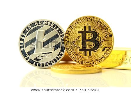 Nowego cyfrowe ceny bitcoin monety światowy Zdjęcia stock © JanPietruszka