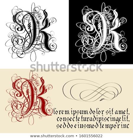 декоративный Готский письме каллиграфия вектора eps8 Сток-фото © mechanik