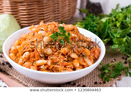 cabbage with beans Stock photo © tycoon