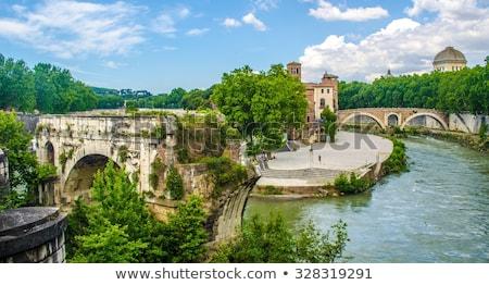 Tiber Island Isola Tiberina on the river Tiber in Rome, Stock photo © Zhukow