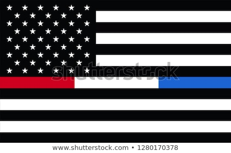 Police and Firefighter Support Cross Illustration Stock photo © enterlinedesign