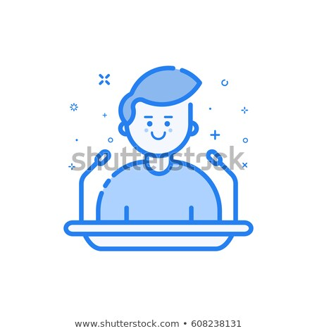 Candidate Speech Icon Vector Outline Illustration Stock photo © pikepicture