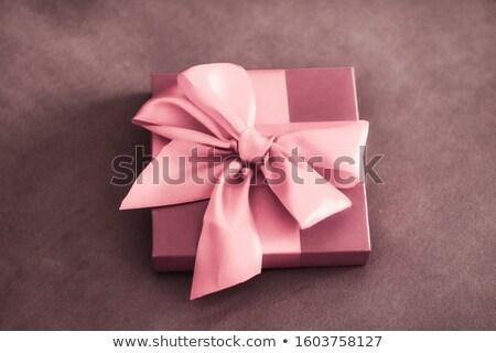 ヴィンテージ 高級 休日 ピンク ギフトボックス ストックフォト © Anneleven