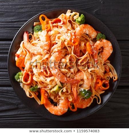 spagetti · petrezselyem · fehér · vágási · körvonal · tészta · ebéd - stock fotó © stocksnapper