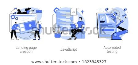 Mobile software ottimizzazione vettore metafora business Foto d'archivio © RAStudio