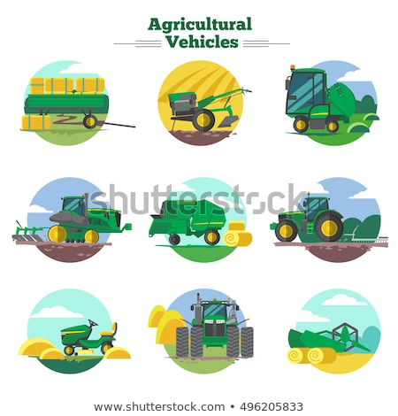 Agricultural Vehicle, Tractor Machine, Farm Vector Stock photo © robuart