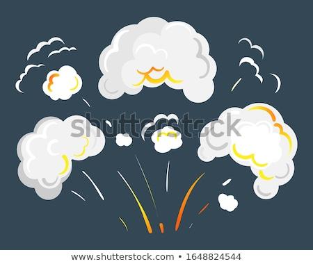 Smoke Caused by Explosion or Burst, Smog Icon Stock photo © robuart