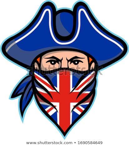 Brits mascotte icon illustratie Stockfoto © patrimonio