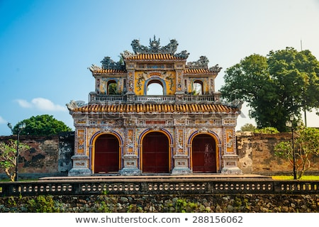 Gate of Hue Citadel, Vietnam Stock photo © bloodua