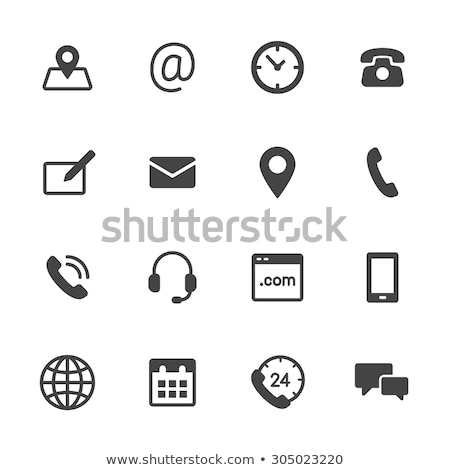 set of contact us buttons stock photo © orson