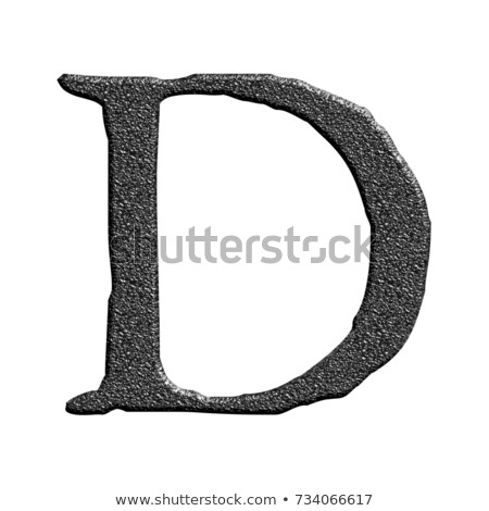 Letter D carved from stone Stock photo © ayaxmr
