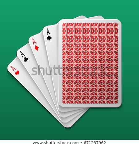 большой набор покер карт комбинация белый Сток-фото © evgeny89