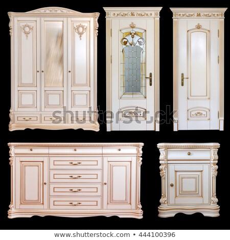 Ruhásszekrény ajtók klasszikus stílus bútor terv Stock fotó © Anneleven