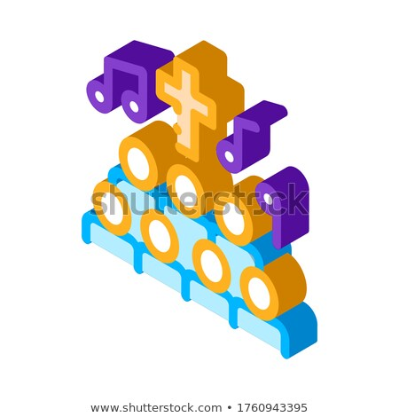Church Choir Singing Song Concert isometric icon Stock photo © pikepicture