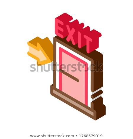 Verlassen Tür Symbol Vektor Zeichen Stock foto © pikepicture