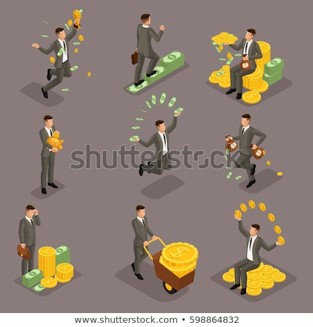 Investor Money isometric icon vector illustration Stock photo © pikepicture