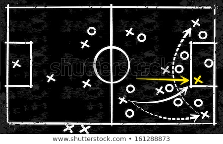 game strategy drawn on blackboard stock photo © ivelin