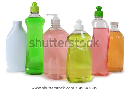colorful unlabeleled cleaning products stock photo © elly_l