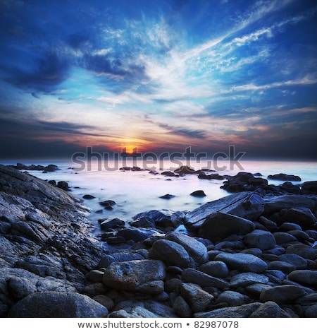View of the beautiful lagoon at dawn. Long exposure shot. Stock photo © moses
