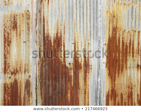 Rusted Corrugated Metal Siding Stock photo © pixelsnap