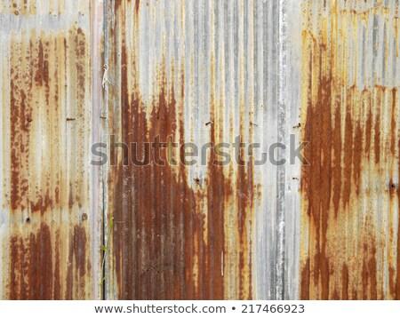 Arrugginito metal muro foglio Foto d'archivio © pixelsnap