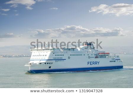 cruise · vrachtschip · horizon · hemel · achtergrond · oceaan - stockfoto © joyr