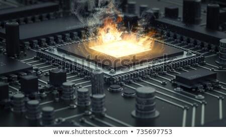 brucia · computer · chip · saldatura · cpu - foto d'archivio © gewoldi