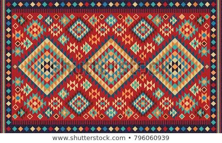 Szőnyeg mértani dísz fehér háttér piros Stock fotó © Paha_L