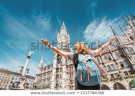 kare · Münih · şehir · tuğla · mimari · çatı - stok fotoğraf © Paha_L