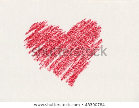 Foto stock: Red Crayon Heart