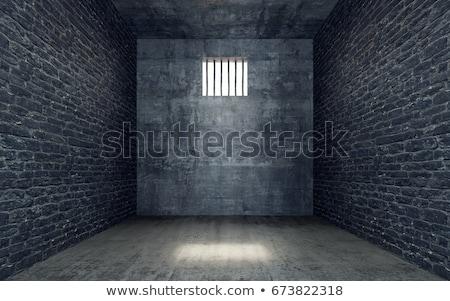 öreg · ajtó · zár · közelkép · lövés · izolált - stock fotó © smithore