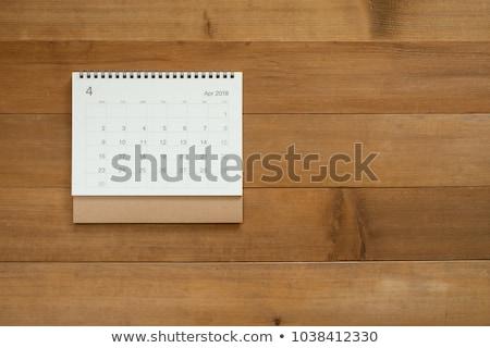 tablo · takvim · beyaz - stok fotoğraf © seenivas