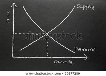 Suministrar demanda tabla pizarra negocios Foto stock © latent