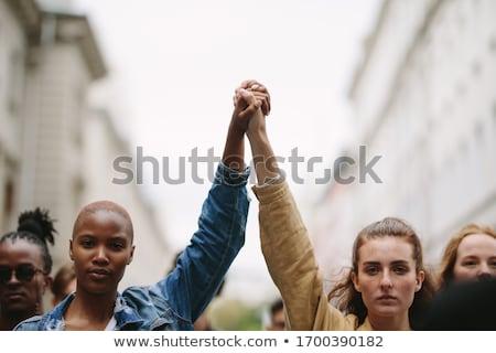 Social protesto greve grupo trabalhador Foto stock © sahua