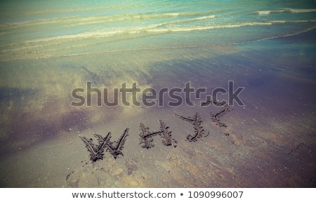 WHY NOT with a big question mark Stock photo © bbbar