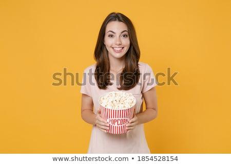 Portré fiatal elegáns modern nő visel Stock fotó © HASLOO