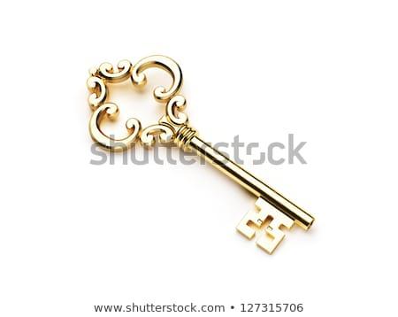 velho · retro · teclas · porta · trancar · isolado - foto stock © 5xinc