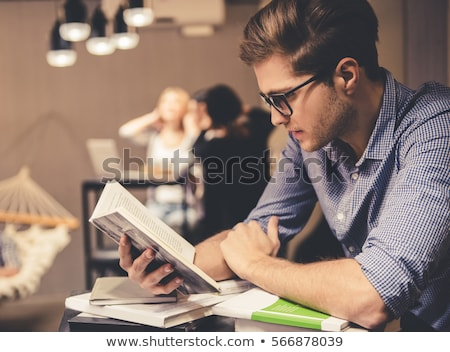 Casual Student Reading Book Stock photo © williv