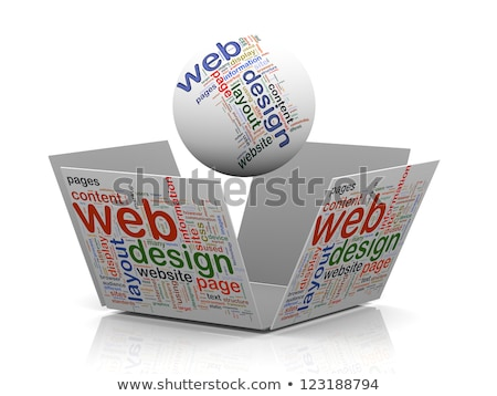 web · design · sphère · 3D · mot · blanche · ordinateur - photo stock © kbuntu