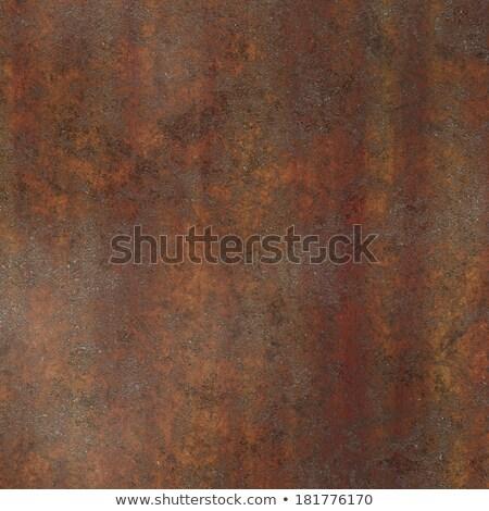 Rusted Steel Plate Stock photo © bobkeenan