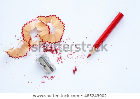 The sharpening of red pencil stock photo © Traven