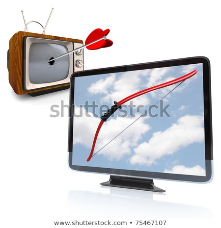 Death of TV - Arrow Hits Old Fashioned Television Stock photo © iqoncept