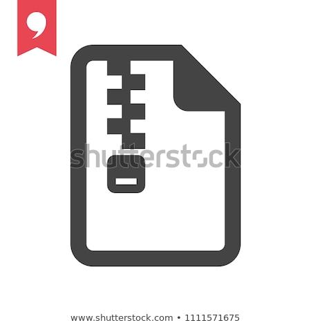 Foto stock: Zip Folder Icon