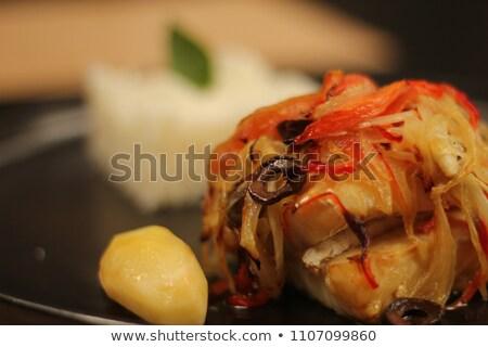 Patates tahıl yemek tipik gıda balık Stok fotoğraf © Carpeira10