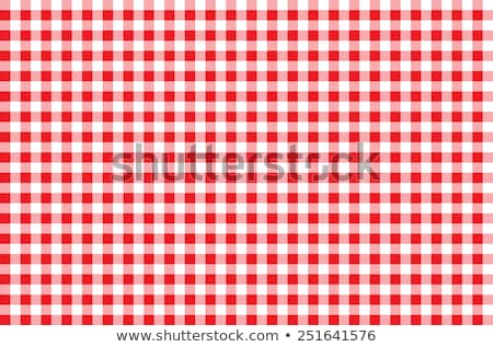 vector red picnic cloth  Stock photo © freesoulproduction