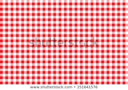wektora · wzór · piknik · obrus · czerwony · gotowania - zdjęcia stock © freesoulproduction