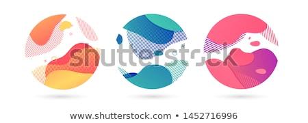 Azul ondas borrão isolado branco abstrato Foto stock © barbaliss