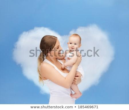 Meraklı erkek mutlu anne beyaz kız Stok fotoğraf © privilege