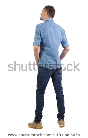背面図 · 小さな · 男性 · ボディービルダー · 重量 - ストックフォト © stockyimages