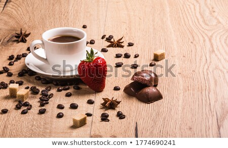 Two varieties of sugar in two cups of coffee stock photo © Armisael